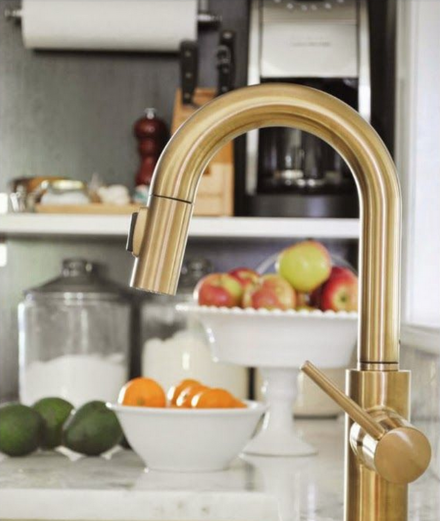 Design On Tap Choosing The Right Kitchen Faucet For Your Budget - Brass faucets kitchen