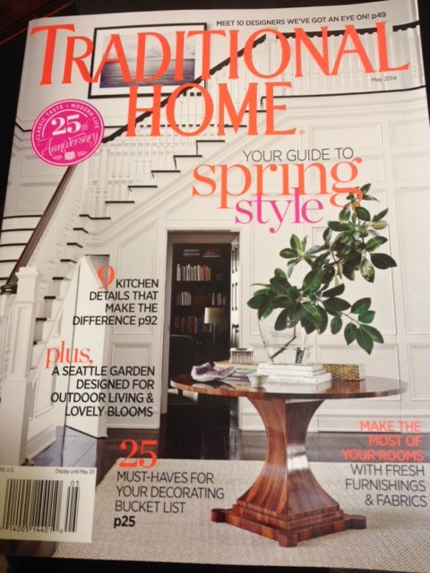 April's cover features a New Trad designer from last year.
