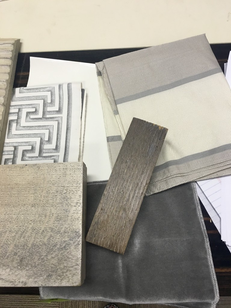 Blending the finishes on the new pieces of furniture with the fabrics